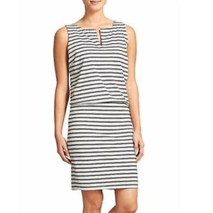 Athleta Vida Striped Black White Dress Sz S
